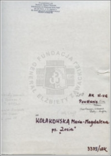 Kołakowska Maria Magdalena
