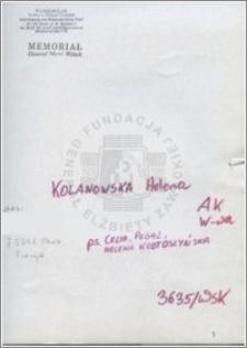 Kolanowska Helena