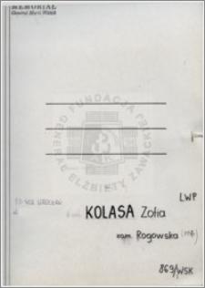 Kolasa Zofia