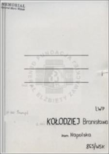 Kołodziej Bronisława