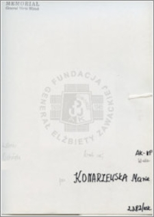 Konarzewska Maria