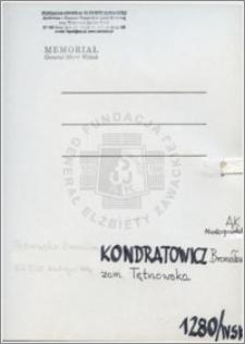 Kondratowicz Bronisława