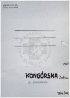 Kongórska Zofia