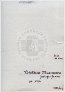 Konopacka-Klimaszewska Jadwiga Janina