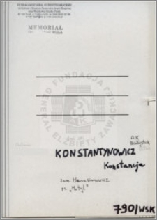 Konstantynowicz Konstancja