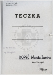 Kopeć Wanda Janina