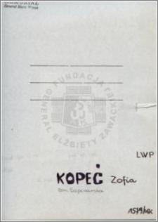 Kopeć Zofia