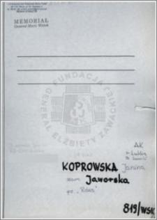 Koprowska Janina