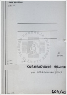 Korabiowska Halina
