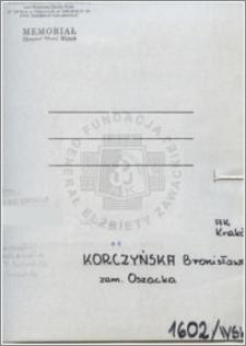 Korczyńska Bronisława