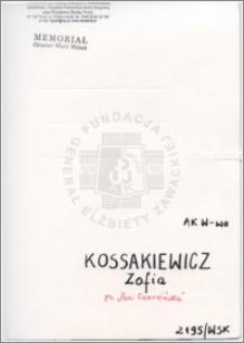 Kossakiewicz Zofia