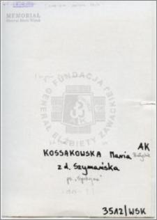 Kossakowska Maria
