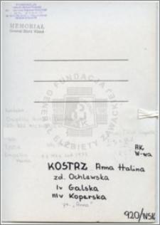 Kostrz Anna Halina