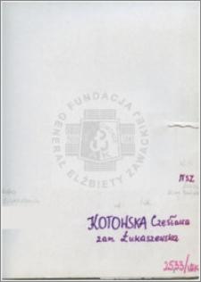 Kotowska Czesława