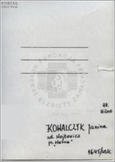 Kowalczyk Janina
