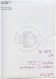 Koziej Cecylia