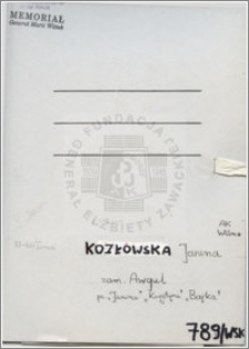 Kozłowska Janina