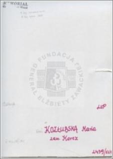 Kozłubska Maria