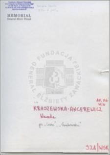 Kraszewska-Ancerewicz Wanda