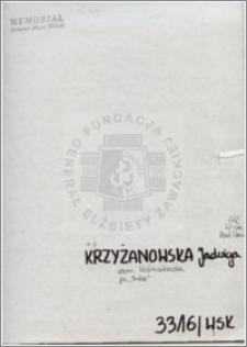 Krzyżanowska Jadwiga