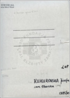 Kukurowska Józefa