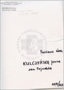 Kulczyńska Janina