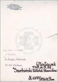 Sarbiński Witold Stanisław