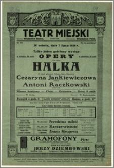 [Afisz:] Halka. Tylko jeden występ gościnny opery