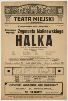 [Afisz:] Halka. Opera w 4 aktach Stanisława Moniuszki