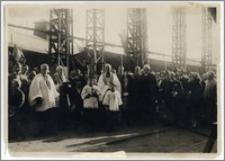 """Wodowanie łodzi podwodnej ORP """"Ryś"""" - Nantens (Francja ), 20 IV 1929"""