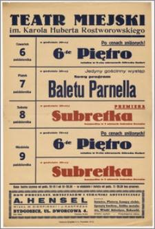 [Afisz:] Repertuar tygodniowy. 6-9 października 1938 r.