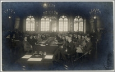Sala obrad na Konferencji Pokojowej w Rydze w 1920 roku