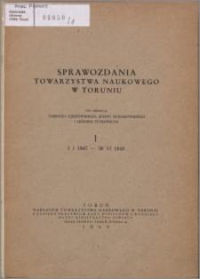 Sprawozdania Towarzystwa Naukowego w Toruniu 1947-1948, nr 1
