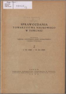 Sprawozdania Towarzystwa Naukowego w Toruniu 1948, nr 2
