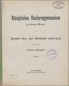 Bericht über das Schuljahr 1908-1909
