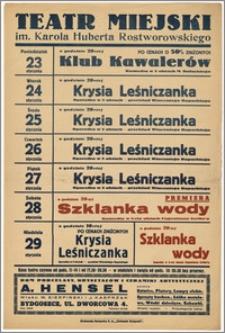 [Afisz:] Repertuar tygodniowy. 23-29 stycznia 1939 r.
