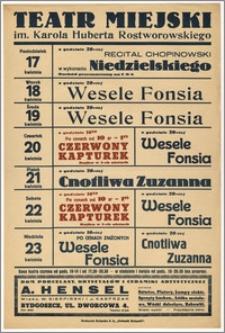 [Afisz:] Repertuar tygodniowy. 17-23 kwietnia 1939 r.