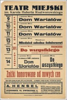 [Afisz:] Repertuar tygodniowy. 9-14 maja 1939 r.
