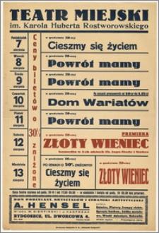 [Afisz:] Repertuar tygodniowy. 7-13 sierpnia 1939 r.