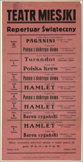 [Afisz:] Repertuar świąteczny. 31 marca - 7 kwietnia 1930 r.