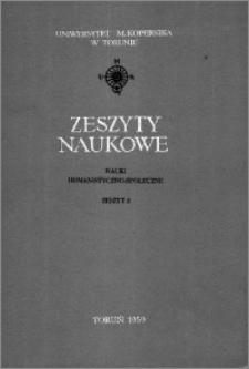 Zeszyty Naukowe Uniwersytetu Mikołaja Kopernika w Toruniu. Nauki Humanistyczno-Społeczne. Filologia Polska, z. 1 (2), 1959