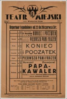 [Afisz:] Repertuar tygodniowy od 22 do 28 czerwca 1931 r.