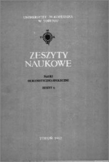 Zeszyty Naukowe Uniwersytetu Mikołaja Kopernika w Toruniu. Nauki Humanistyczno-Społeczne. Filologia Polska, z. 3 (6), 1962