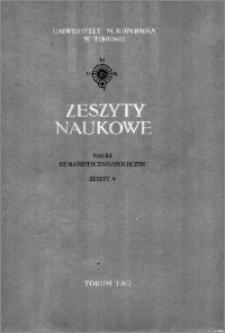 Zeszyty Naukowe Uniwersytetu Mikołaja Kopernika w Toruniu. Nauki Humanistyczno-Społeczne. Filologia Polska, z. 4 (9), 1963