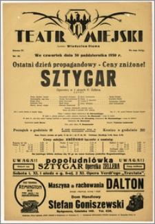 [Afisz:] Sztygar. Operetka w 3 aktach Karla Zellera