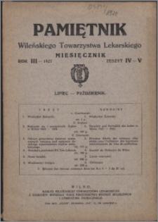 Pamiętnik Wileńskiego Towarzystwa Lekarskiego 1927, R. 3 z. 4-5