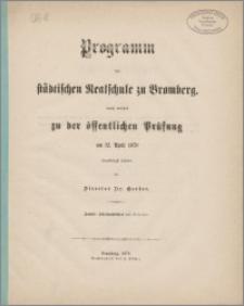 Programm der Städtischen Realschule zu Bromberg