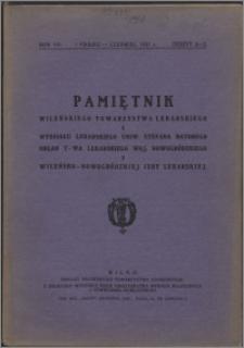 Pamiętnik Wileńskiego Towarzystwa Lekarskiego 1931, R. 7 z. 2-3