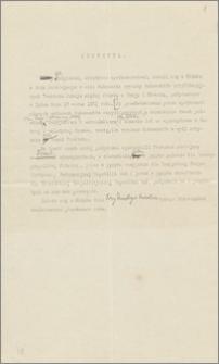 Brudnopis protokołu z wymiany dokumentów ratyfikacyjnych Traktatu Pokoju między Polską a Rosją i Ukrainą, Ryga, dn. 18 marca 1921 r.