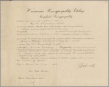Oficjalny list komisyjny mianujący Karola Poznańskiego – Konsulem Generalnym RP na obszarze Commonwealth Australii, Nowej Gwinei i Nauru z siedzibą w Londynie, podpisany przez Prezydenta RP Ignacego Mościckiego, Premiera Leona Kozłowskiego oraz Józefa Becka, Warszawa, 21 lipca 1934 r